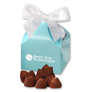 Cocoa Dusted Truffles in Robin's Egg Blue Gift Box